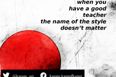 when you have a good teacher, the name of the style does not matter. kartequote, karatequotes, quote, quotes