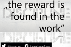 the reward is found in the work. kartequote, karatequotes, quote, quotes