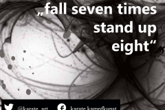 fall seven times, stand up eight. kartequote, karatequotes, quote, quotes