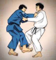 karate-werfen