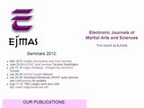 EJMAS Electronic Journals of Martial Arts and Sciences splash page